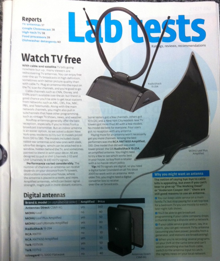 The Micron-XG Amplified Indoor Antenna Featured in Consumer Reports