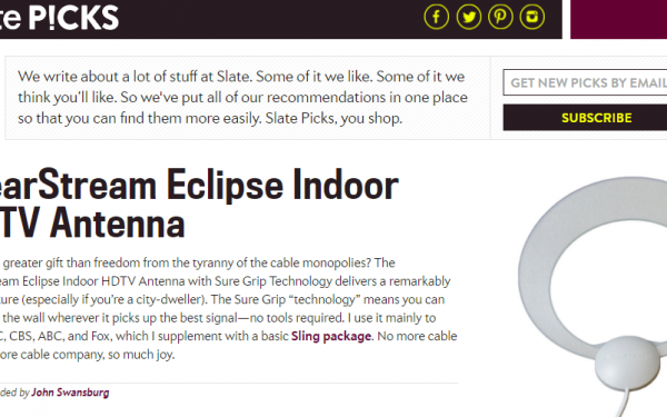 Results image of Slate Picks article with Antenna