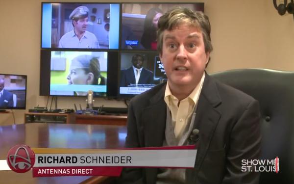 Results image of Antennas Direct President Richard Schneider channel 5 interview