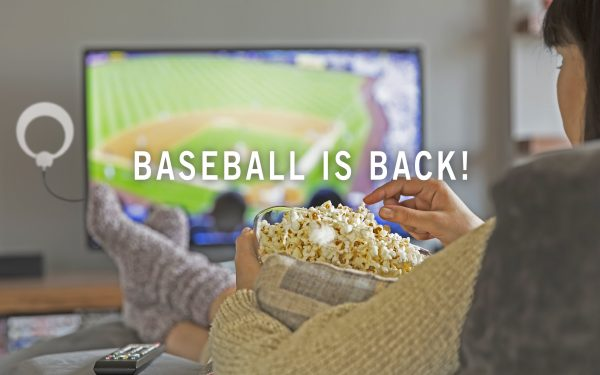 Results image of Woman watching Baseball with Antenna