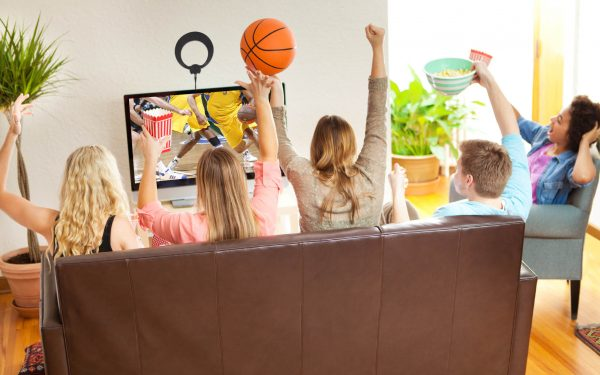 Results image of watching TV with basketball and antenna