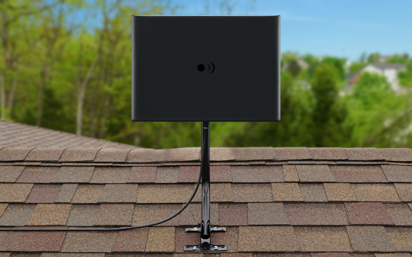 Results image of ClearStream Fusion Outdoor Antenna on top of man cave