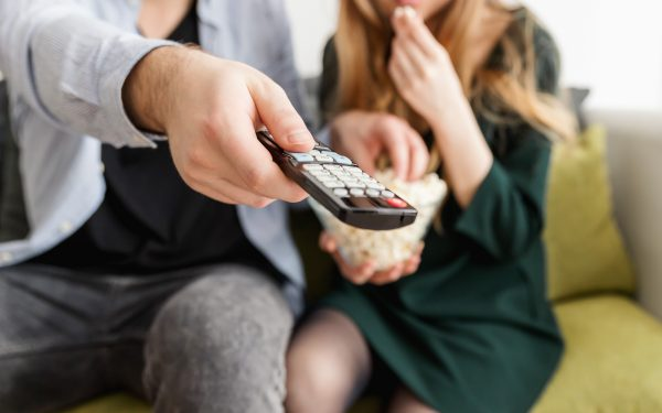 Results image of couple with remote