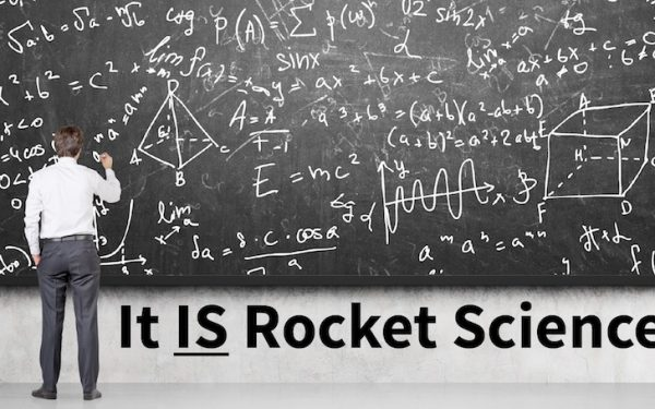 Results image of It Is Rocket Science, man at chalkboard