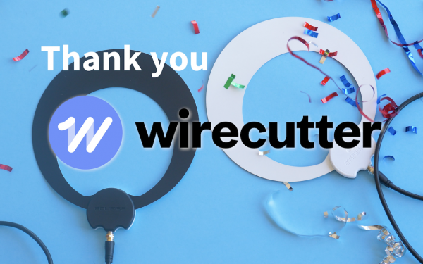 Results image of Thank You Wirecutter with antenna