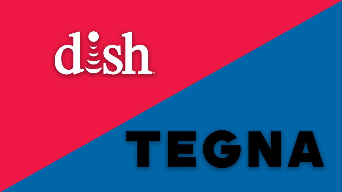 Dish Network and Tegna logos
