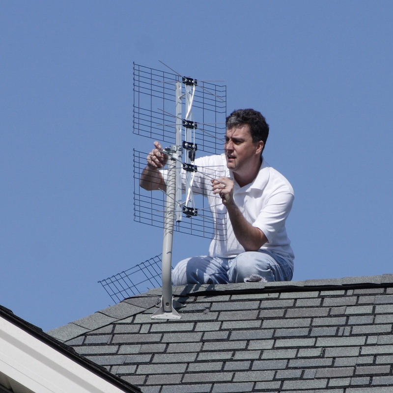 Image result for outdoor antenna installation
