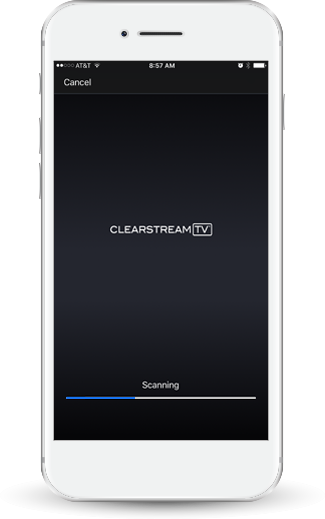 iPhone scanning for channels