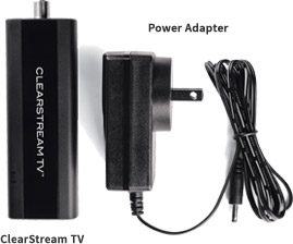 ClearStream TV Tuner and power adapter