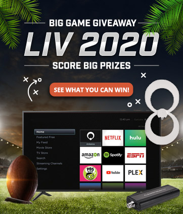 Big Game Giveaway LIV 2020 - Score Big Prizes - See what you can win!